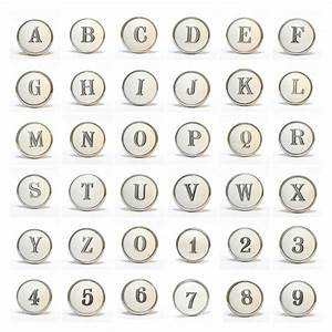 ceramic alphabet letters and numbers knob by pushka knobs With ceramic letters and numbers