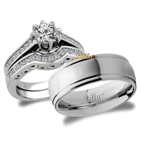 his and hers bridal matching wedding ring ebay