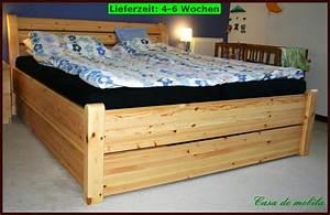 Bett 160x200 Holz : doppel bett funktions schubkasten futon 160x200 schubladen holz kiefer massiv ebay ~ Indierocktalk.com Haus und Dekorationen
