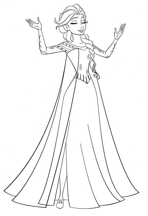 elsa  coloring page frozen coloring book