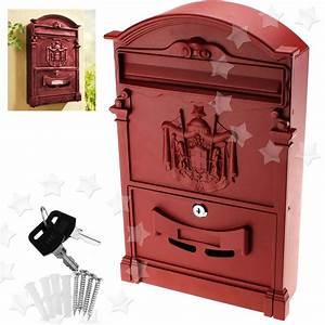 heavy duty burgundy aluminium lockable secure mail letter With heavy duty letter box