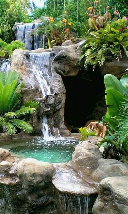 Backyard Ponds Pond Landscaping Waterfall Waterfalls Garden