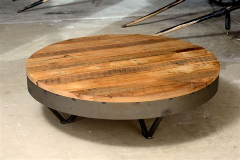 "Coffee tables appear in lots of visually appealing materials — metal, glass, and wood are typical choices. Reclaimed Barn Wood Coffee Table 36"" Round - 48"" Round 