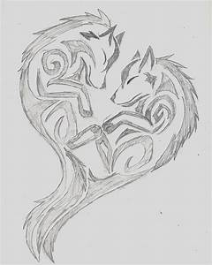 Wolf Tribal Heart by wolfhappy on DeviantArt