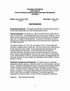 case study example clerkship in psychiatry With mental health case study template