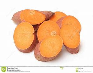 Sweet Potato Sliced Potatoes On White Clipart By ...