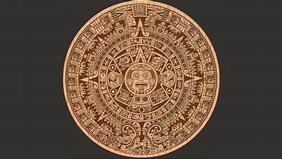 Aztec Calendar Wallpapers Background Desktop Computer Pattern