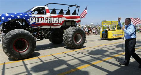 wildwood monster truck show watch the tramcar please get smoked by a monster truck
