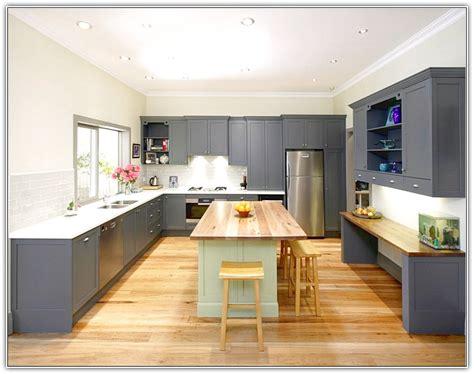 grey kitchen cabinets wood floors quicua