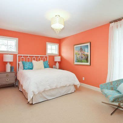 bedroom peach wall color design ideas pictures remodel