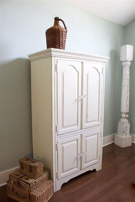 chalk painted armoire makeover  bees   pod