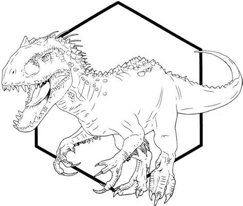 Indominus Kleurplaat by Indominus Rex Dino Coloring Printable Sheet 40 Indominus