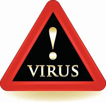 Virus Warning Vector Computer Sign Alert Illustrations