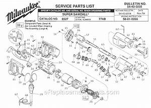 Milwaukee 6527 Parts List And Diagram