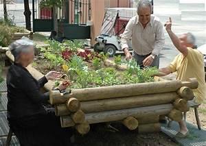 Rondin De Bois Pour Jardin : jardiniere bois sur lev e un potager pour vos plantations ~ Edinachiropracticcenter.com Idées de Décoration
