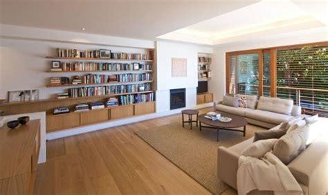 canapé avec bibliothèque intégrée 42 salons exquis avec cheminée contemporaine design