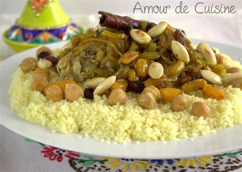 couscous tfaya cuisine marocaine amour de cuisine