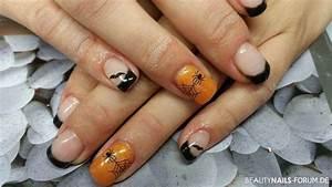 Nageldesign Herbst 2017 : 50 halloweenn gel nageldesign bilder 2019 halloween n gel nail art galerie ~ Frokenaadalensverden.com Haus und Dekorationen