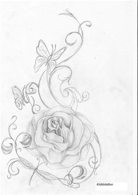 rose and insect's by Kiddotattoo.deviantart.com on @deviantART   Tattoos   Picture tattoos, Rose