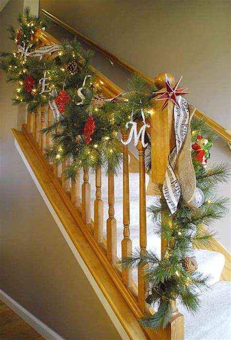 lighted garland for staircase staircase living rich on lessliving rich on less 7022