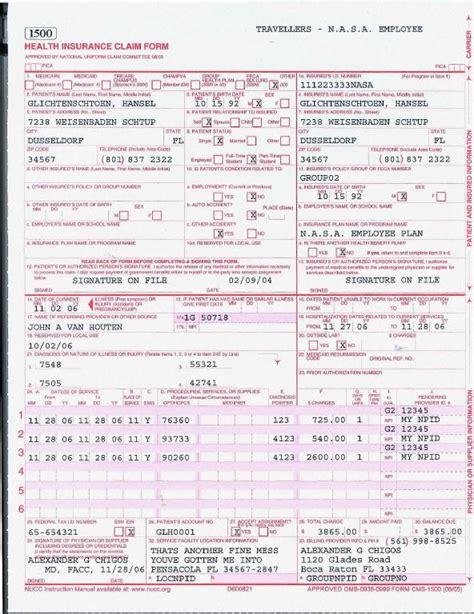 medicare 1500 form claim form claim form for medicare