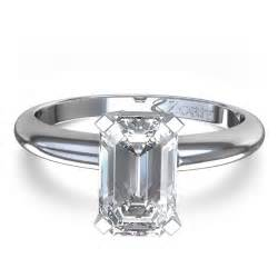 emerald shape engagement rings delicate emerald cut engagement ring in palladium united kingdom