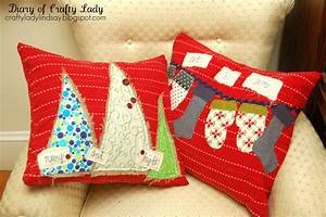 diary of a crafty lady christmas pillow covers made with With christmas pillows to make