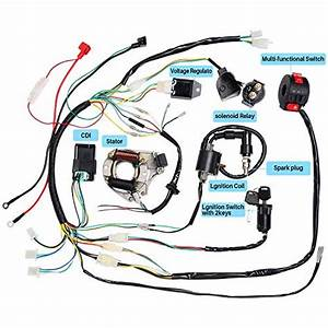Cisno Complete Electrics Stator Coil Cdi Wiring Harness For 4