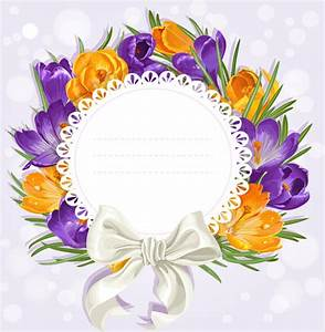 Purple flower with bow vector cards Free vector in Adobe ...