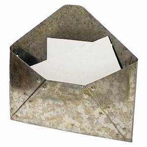 Galvanized metal envelope mail holder look 4 less and for Galvanized letter holder