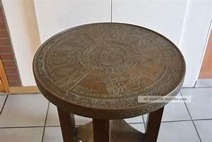 Antike Tische Rund : antik rauchertisch art d co beistelltisch tischplatte messing gyptische motive ~ Frokenaadalensverden.com Haus und Dekorationen