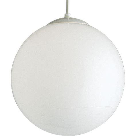 white globe pendant light progress lighting 1 light white pendant with white opal