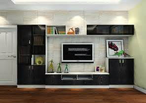 livingroom cabinets italy living room black tv cabinet with brick wallpaper