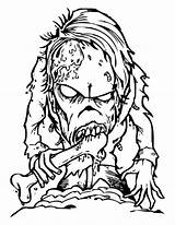 Coloring Scary Monster Monsters Horror Creepy Eater Bone Printable Drawing Halloween Zombie Sheets Drawings Getcolorings Dragon Undead Fantasy Template sketch template
