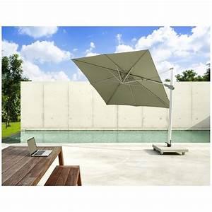 Parasol Déporté Carré : parasol deporte carre mauritius jardinico achat en ligne ~ Mglfilm.com Idées de Décoration
