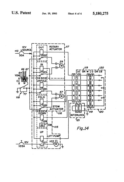patent us5180275 rotary lift with power stowable