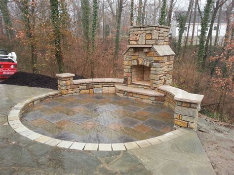 Paver Brick Wall by Paver Patio Seating Wall Outdoor