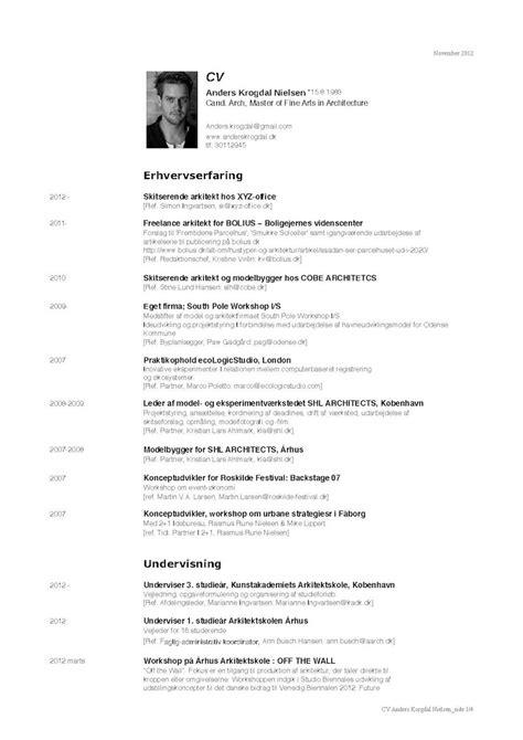 Architect Curriculum Vitae Exles by Architect Cv