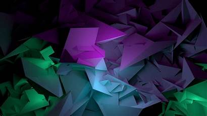 Abstract Purple Background Shapes 3d Wallpapers 4k