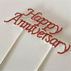 happy anniversary cake topper decoration sparkly ruby wedding 40yrs metal ebay