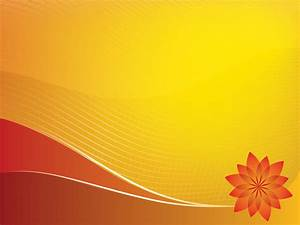 Orange Sun Design Powerpoint Templates