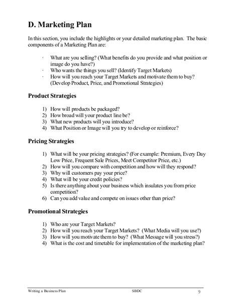 writing a business plan template writing a business plan