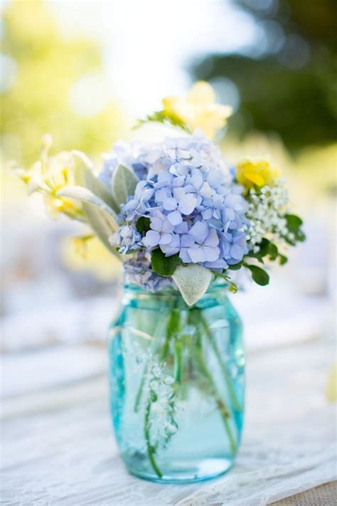 Blue And Yellow Burlap Wedding By Tres Creative Film And Photo