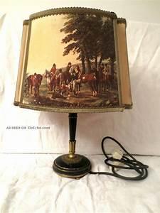Lampe Mit Stoffschirm : alte lampe aus messing mit stoffschirm reitermotiv ~ Indierocktalk.com Haus und Dekorationen