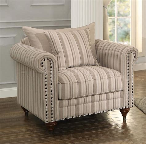 hadleyville sofa striped homelegance