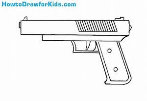 How to Draw a Gun for Kids | HowtoDrawforKids