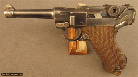 Ww1 German Luger Pistol Built By Dwm 1917 Dated