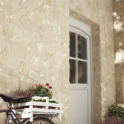 decoration murale pour cuisine plaquette de parement béton beige piemont leroy merlin
