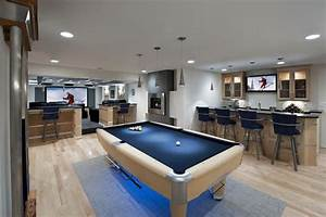 Pool table room decorating ideas basement contemporary