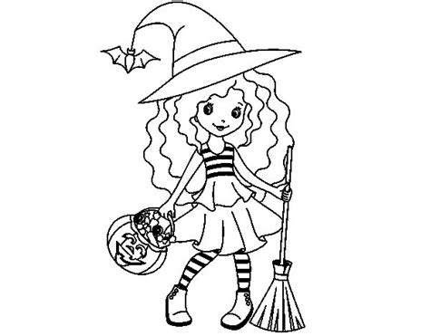 Trick-or-treating Coloring Page